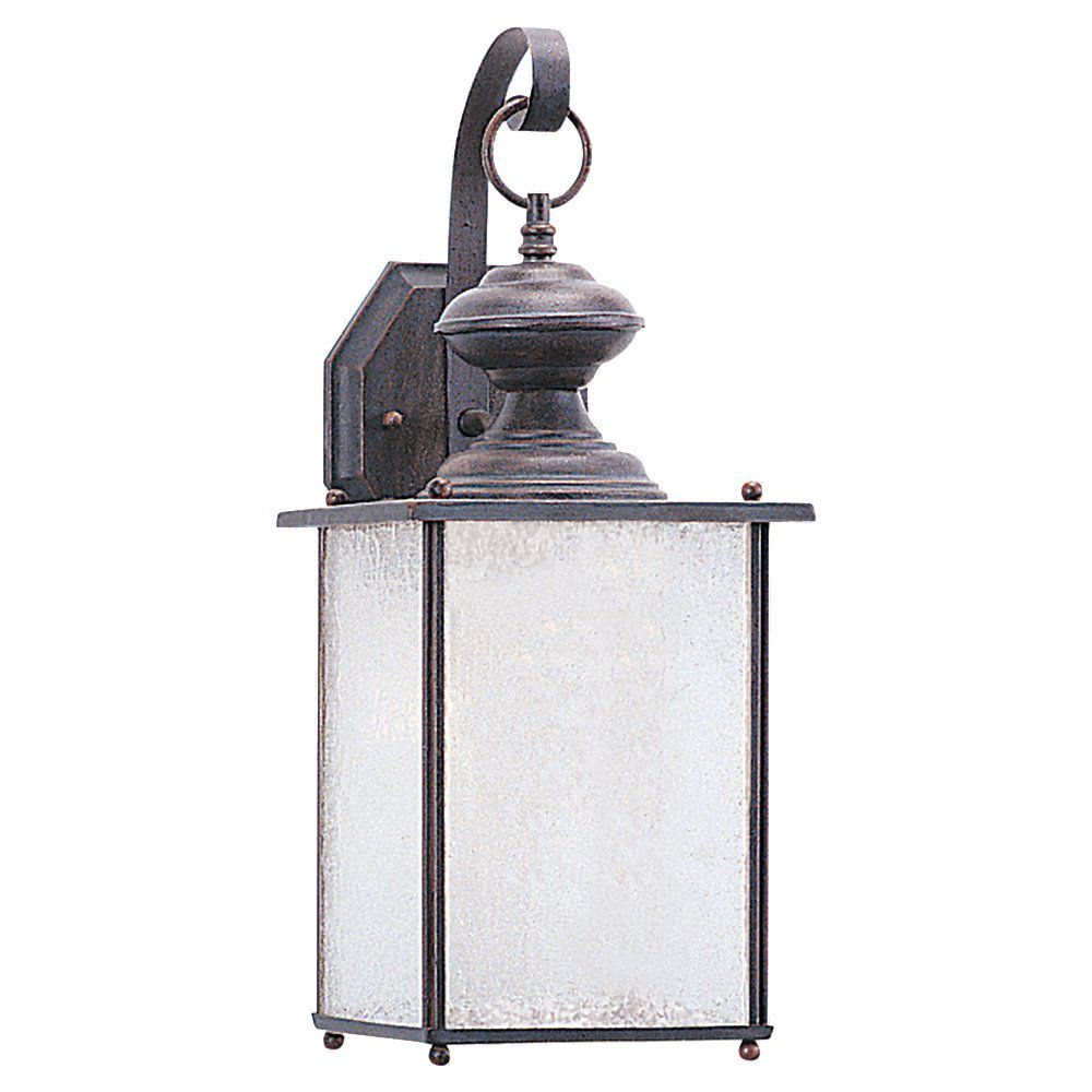 1 Light Textured Rust Patina Fluorescent Outdoor Wall Lantern