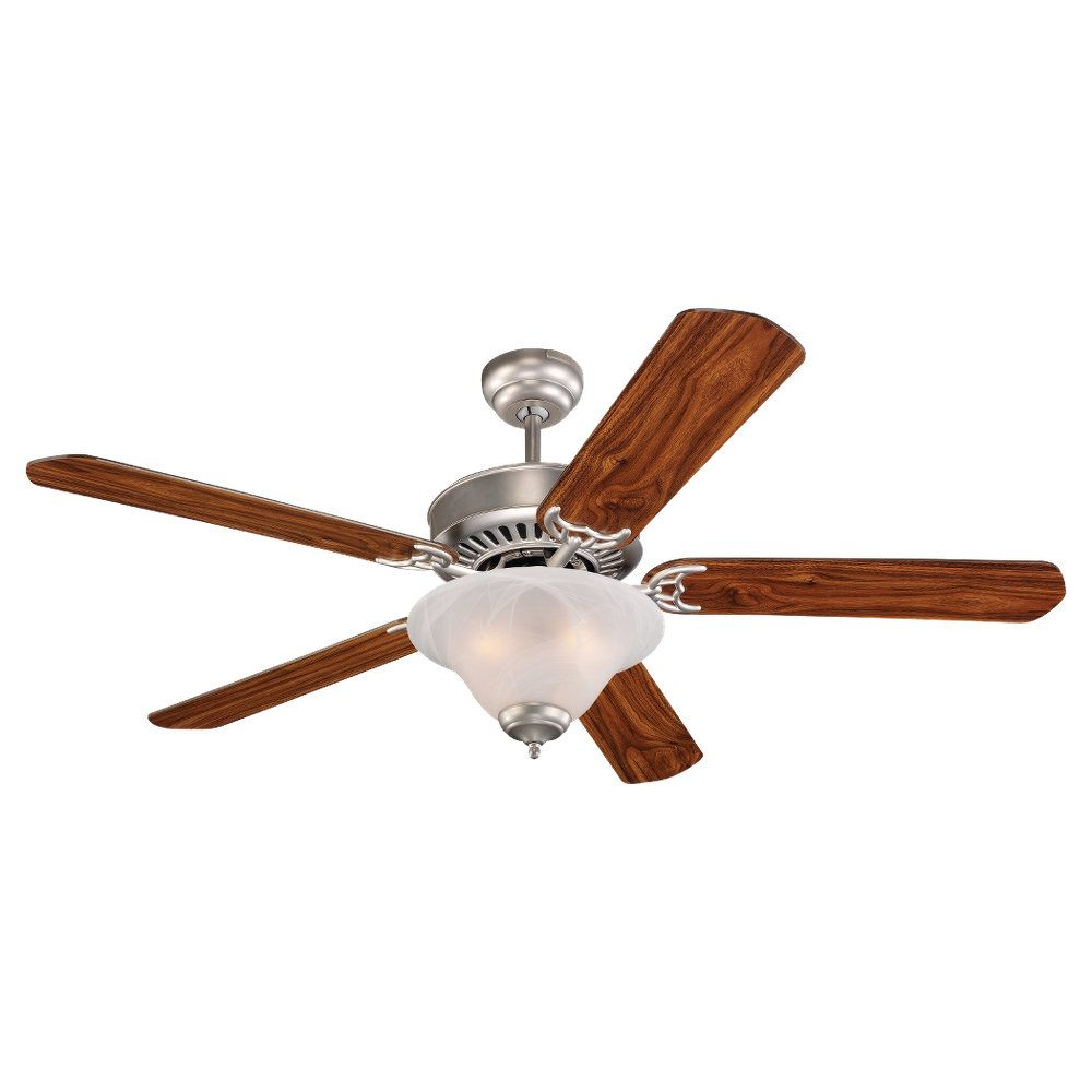 52 Inch Indoor Brushed Pewter Ceiling Fan