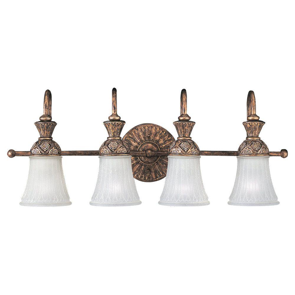4-Light Regal Bronze Bathroom Vanity