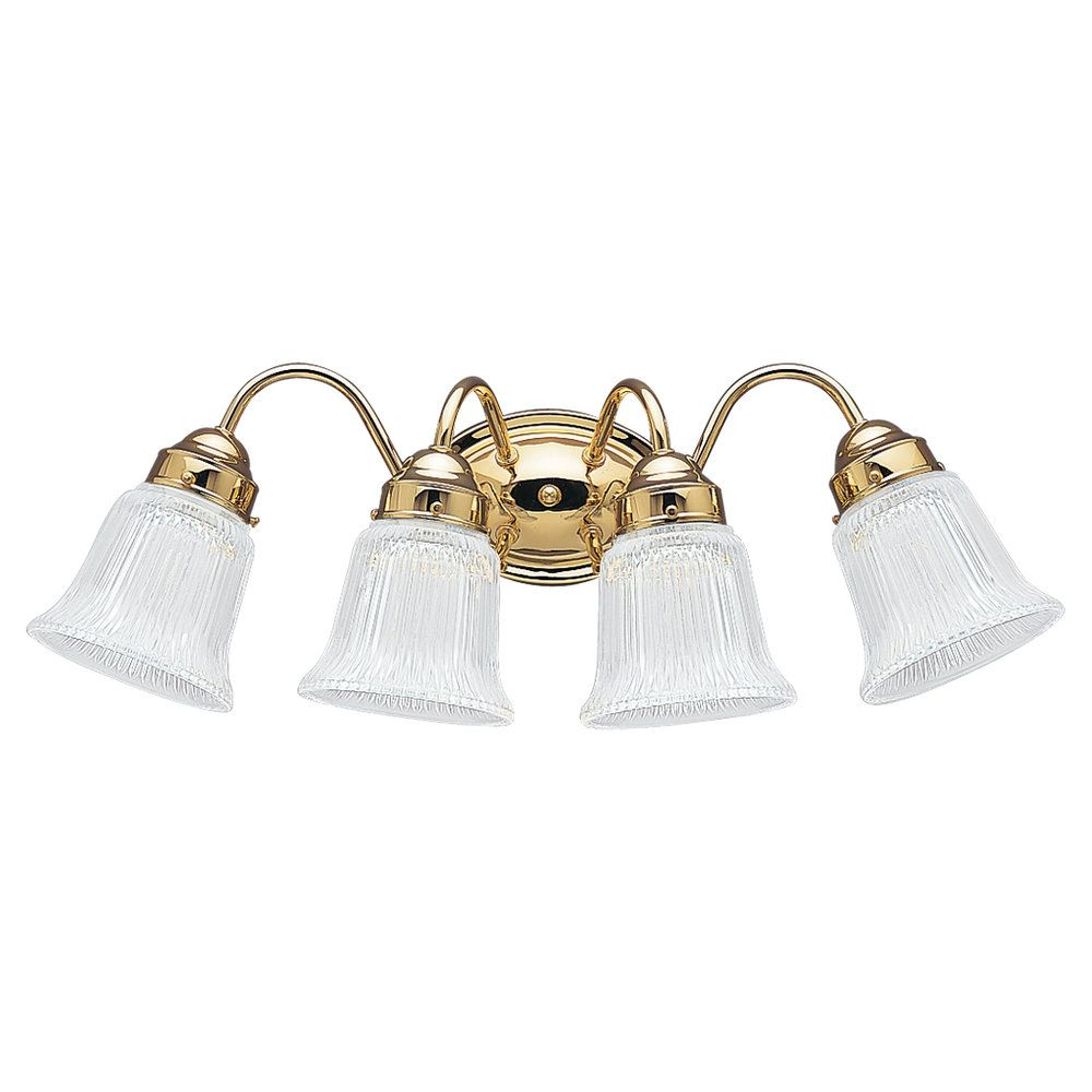 4-Light Polished Brass Bathroom Vanity