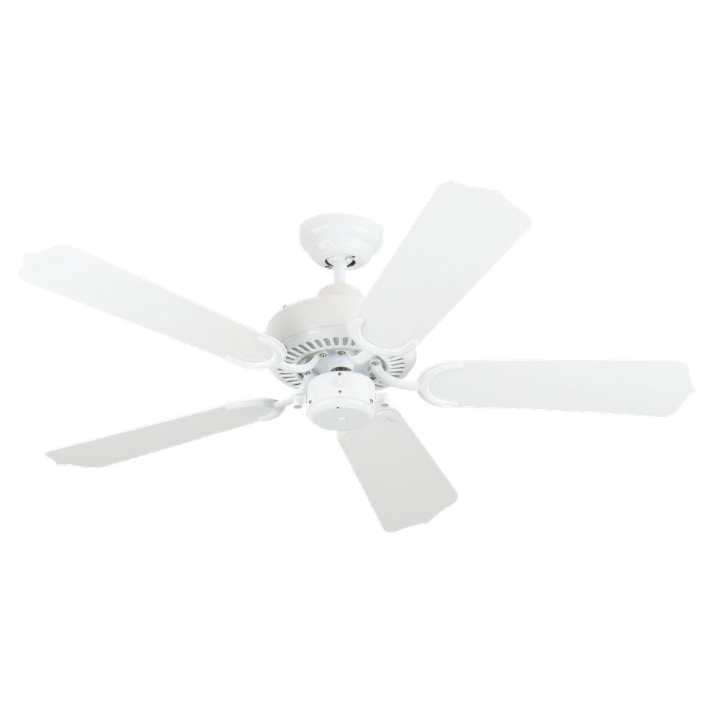 42 Inch Indoor/Outdoor White Ceiling Fan