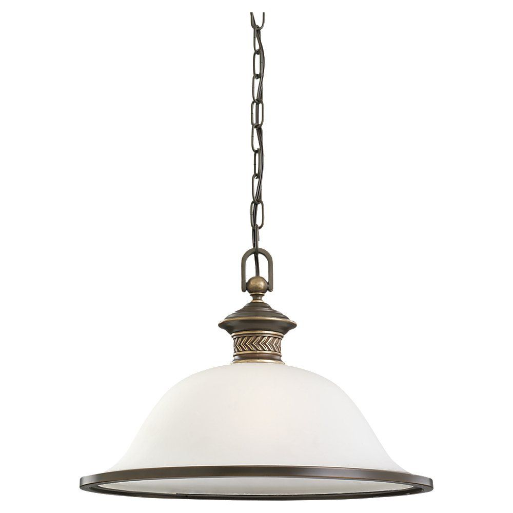 1-Light Estate Bronze Pendant