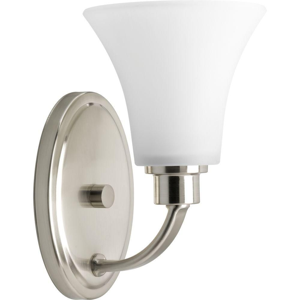 Joy Collection Brushed Nickel 1-light Vanity Fixture