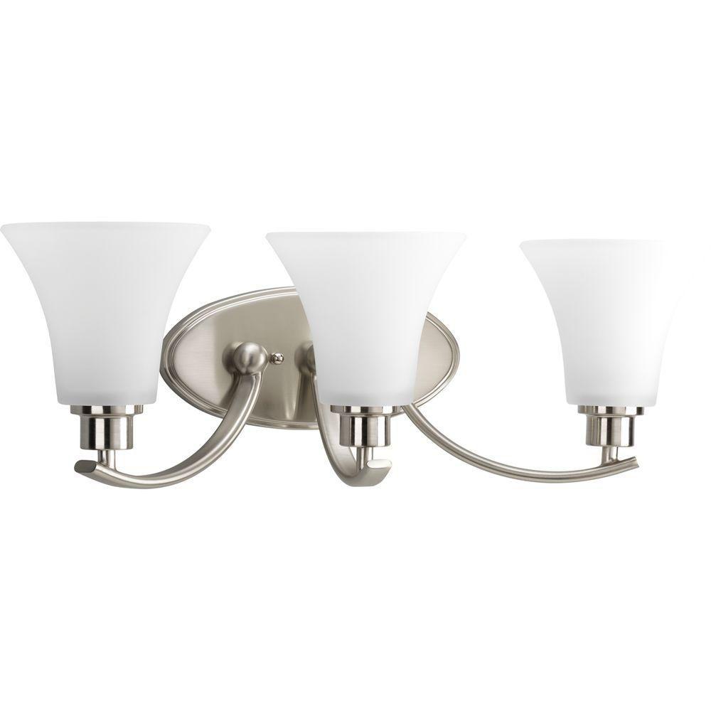 Joy Collection Brushed Nickel 3-light Vanity Fixture