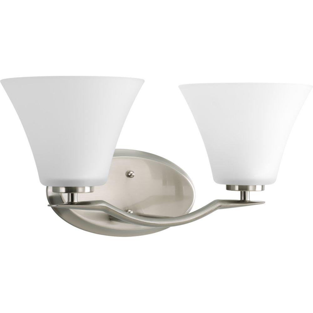 Bravo Collection Brushed Nickel 2-light Vanity Fixture
