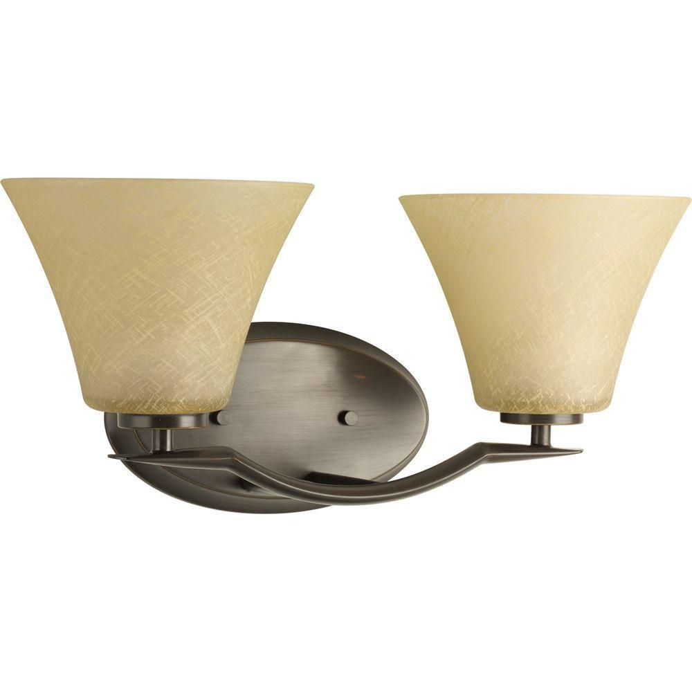 Progress Lighting Bravo Collection Antique Bronze 2-light Vanity Fixture