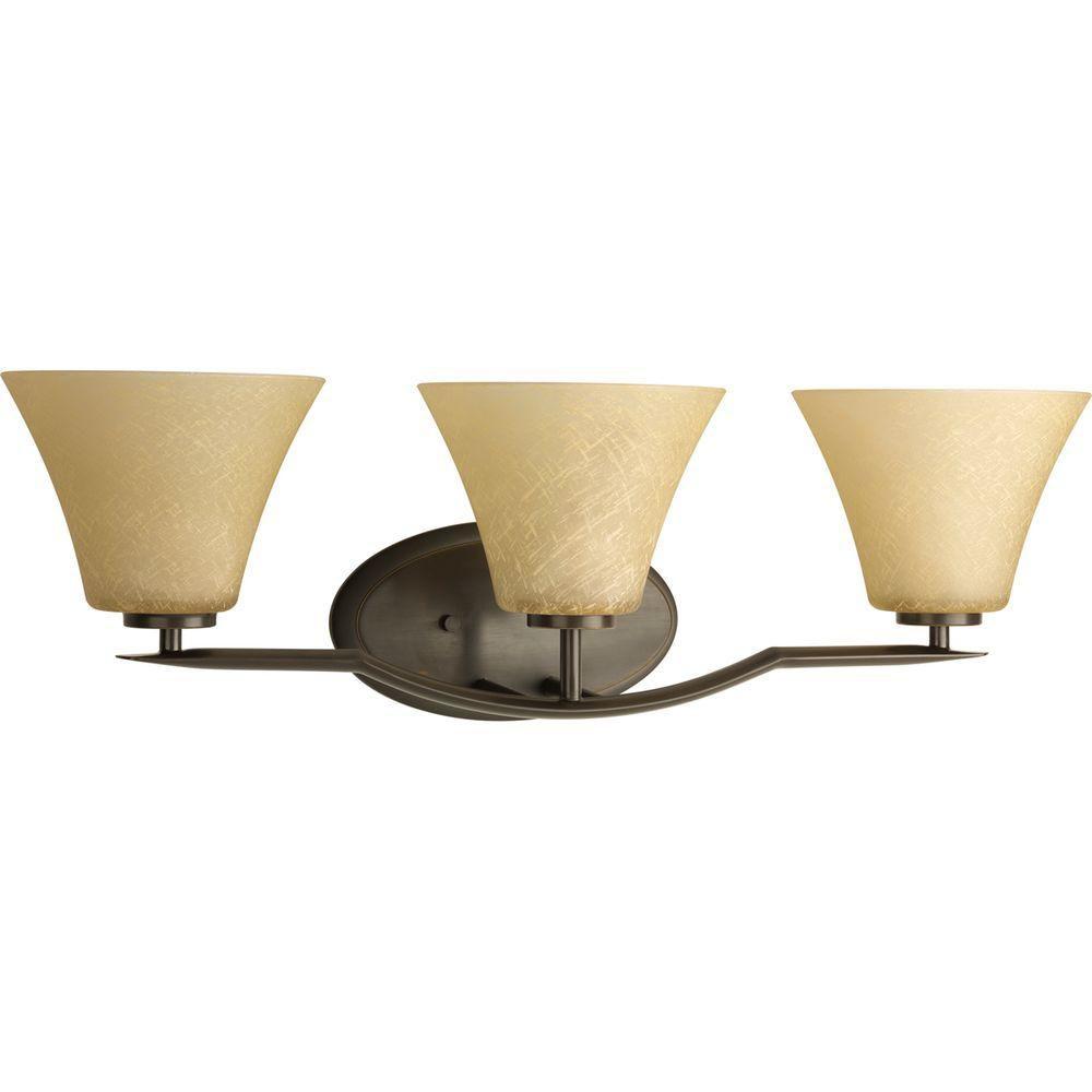 Bravo Collection Antique Bronze 3-light Vanity Fixture