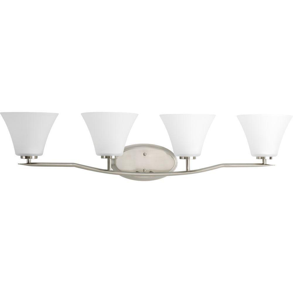 Bravo Collection Brushed Nickel 4-light Vanity Fixture