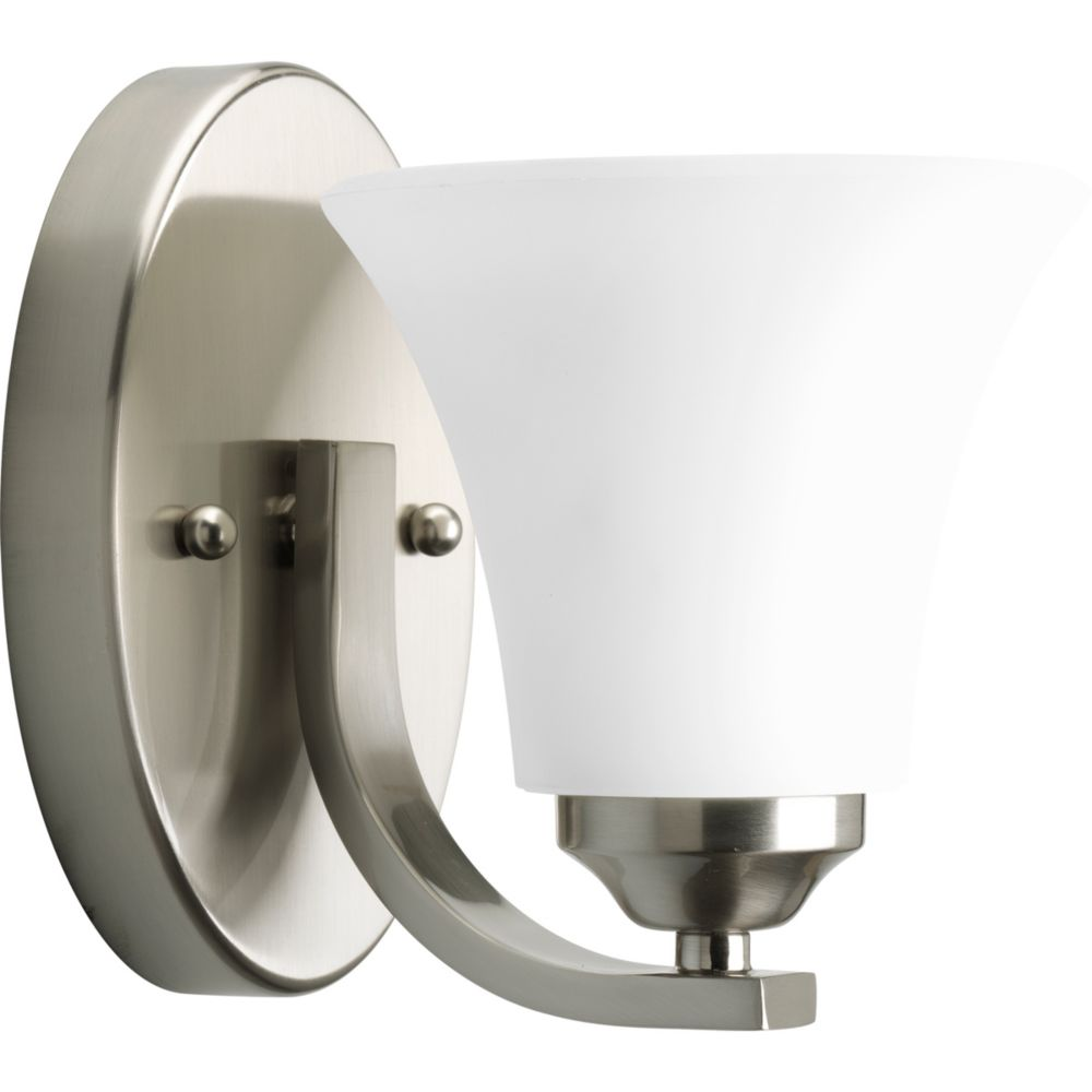 Burton 1 Light Wall Brushed Nickel Incandescent Wall Sconce Cli Frt55290155 Canada Discount