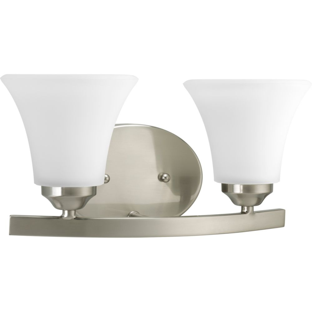 Adorn Collection Brushed Nickel 2-light Vanity Fixture 7.85247E 11 Canada Discount