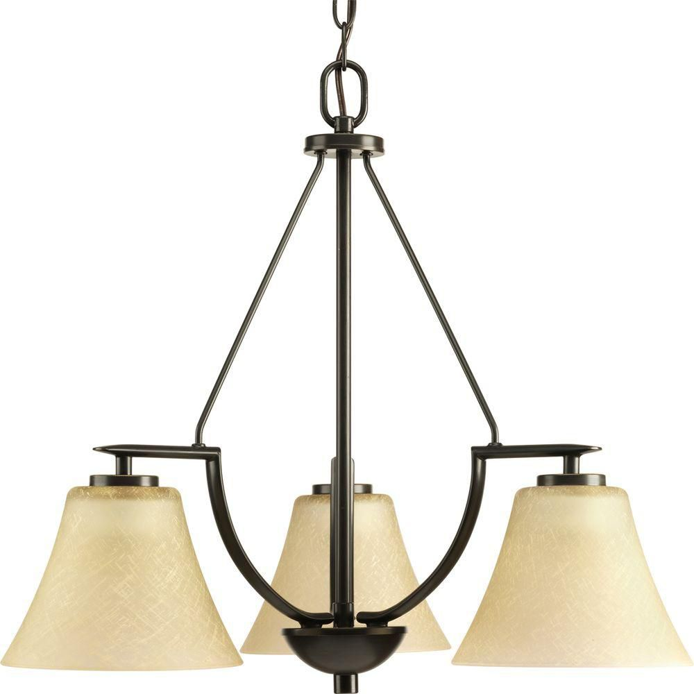 Bravo Collection Antique Bronze 3-light Chandelier