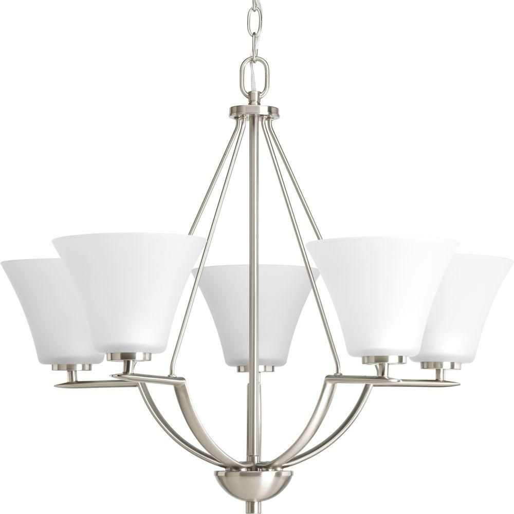 Bravo Collection Brushed Nickel 5-light Chandelier