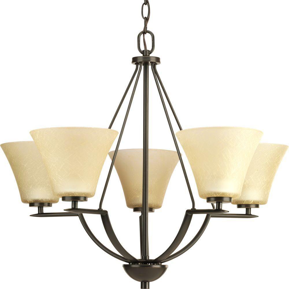 Bravo Collection Antique Bronze 5-light Chandelier