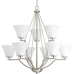 Progress Lighting Bravo Collection Antique Bronze 9-light Chandelier