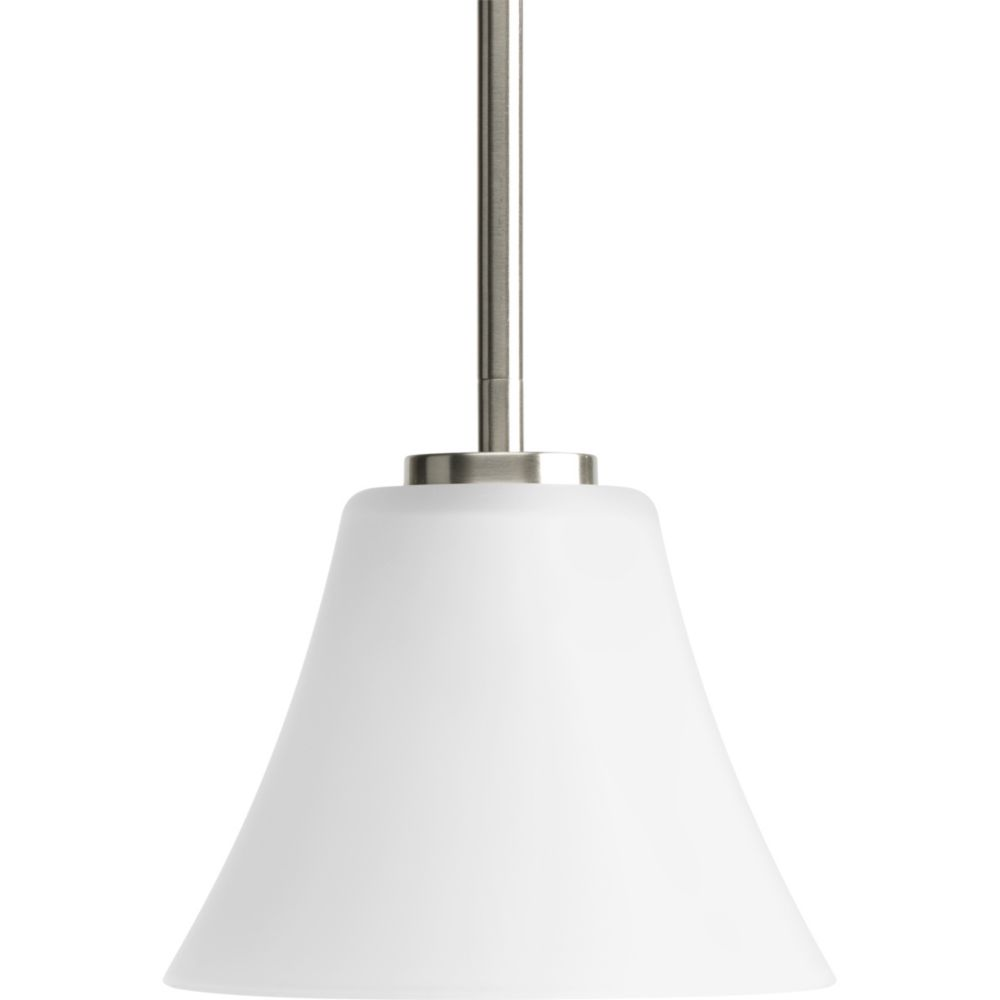 Bravo Collection Brushed Nickel 1-light Mini-Pendant