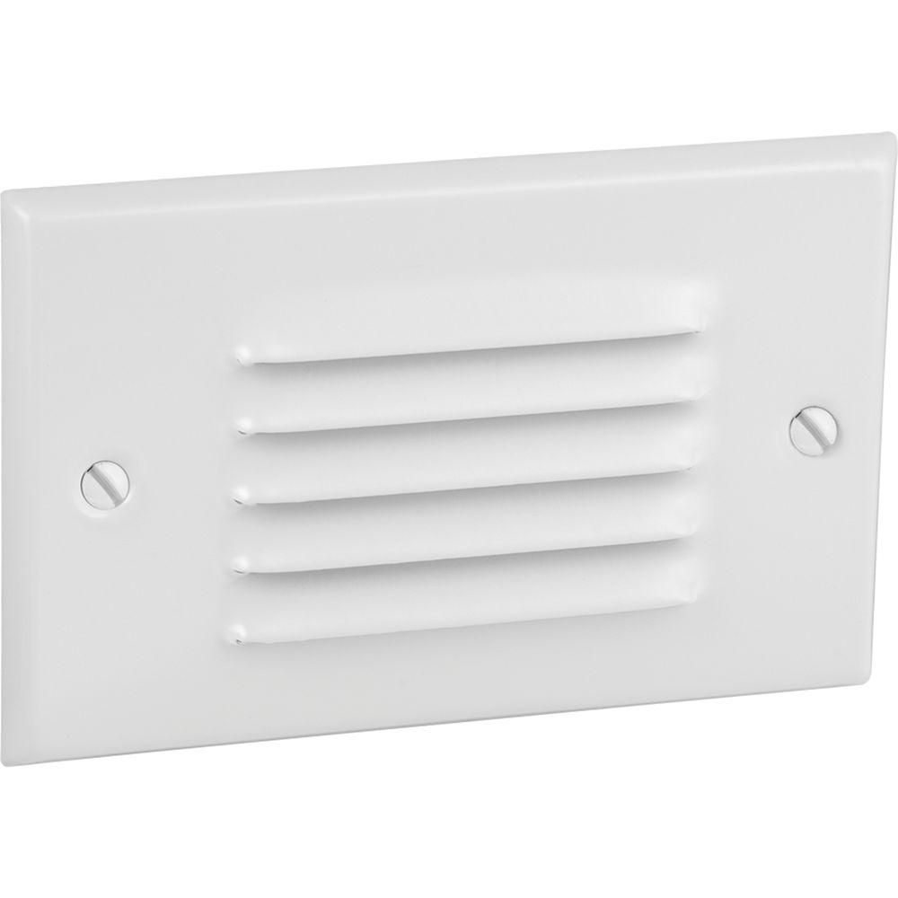 Progress LED White Horizontal, Louvered Step Light