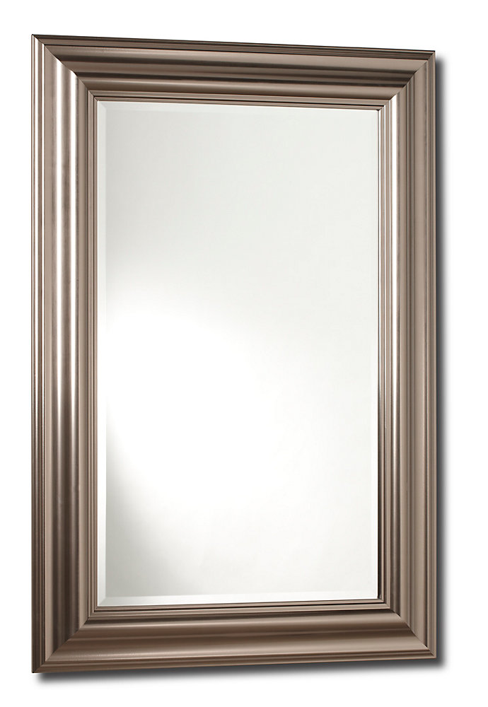 The Vanity-G, Mirror Steam Silver - 18 inches x 30 inches