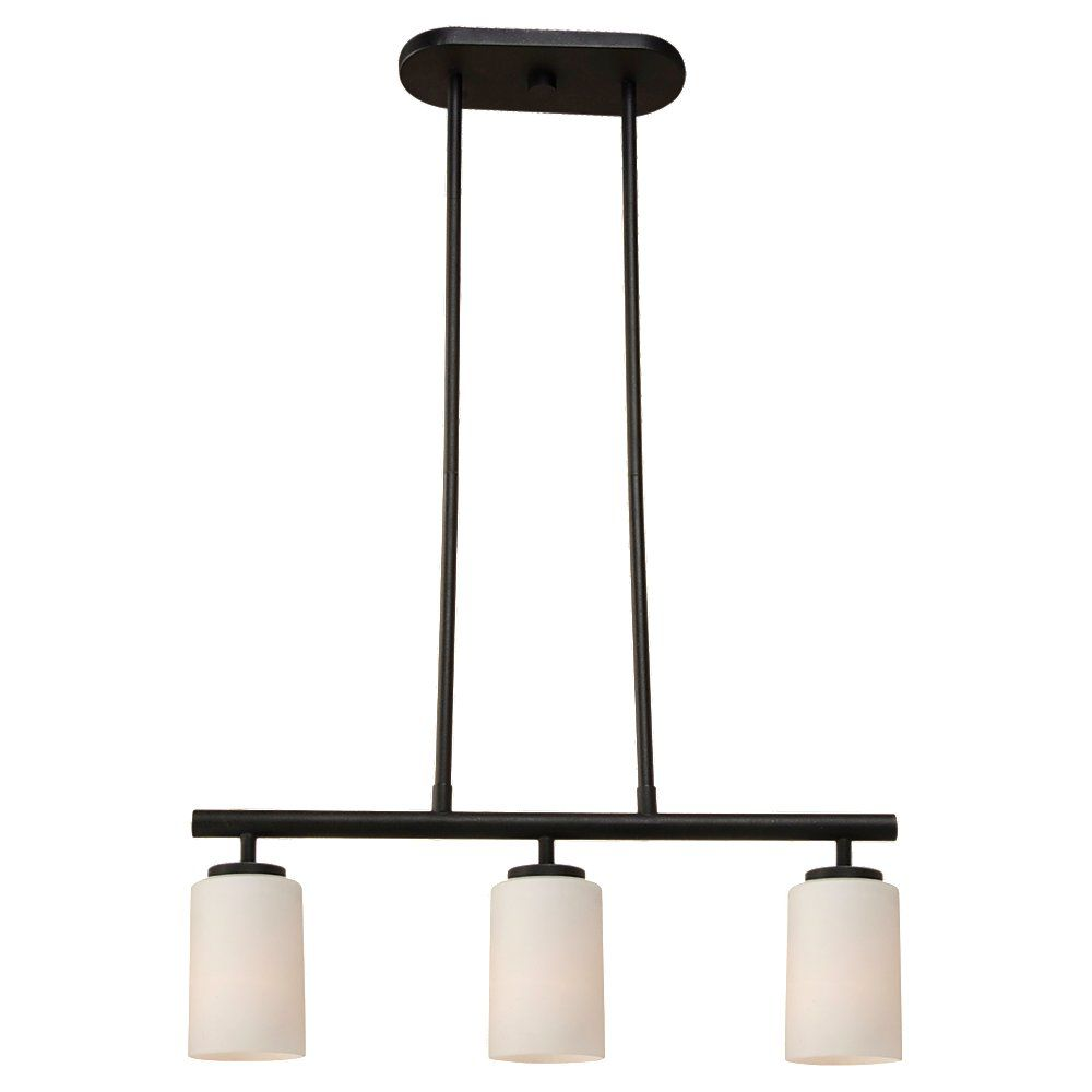 Commercial Electric 3-Light Pendant, Brushed Nickel Finish