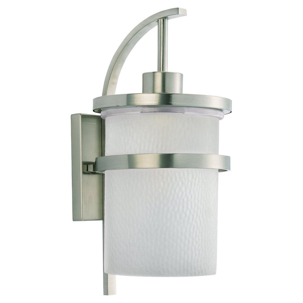 1 Light Brushed Nickel Incandescent Outdoor Wall Lantern 88119-962 in Canada