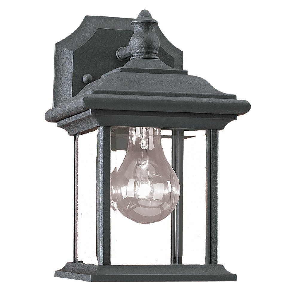 Discount Outdoor Wall Lighting: Enchant Collection Espresso 1-light Wall Lantern 7.85247E