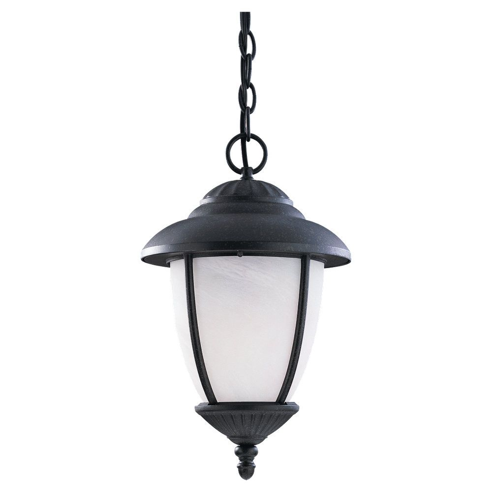 1-Light Forged Iron Outdoor Pendant
