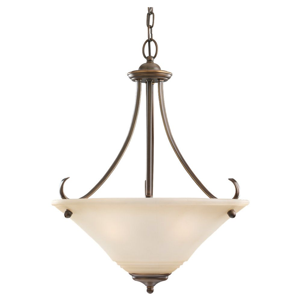 3 Light Russet Bronze Fluorescent Pendant