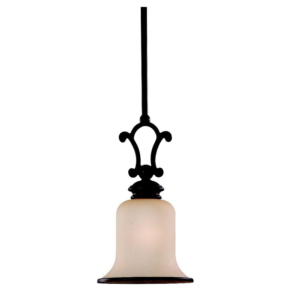 1-Light Misted Bronze Pendant