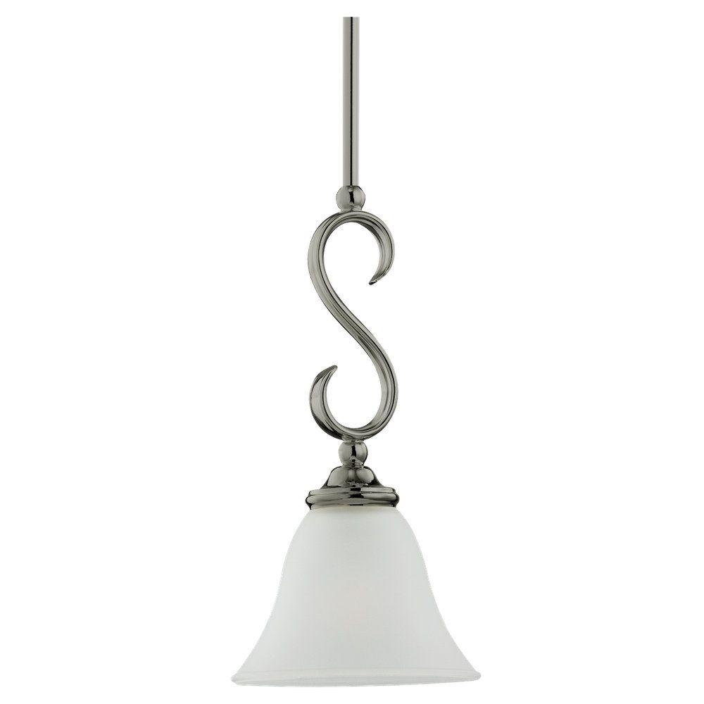 Lustre Seagull à une ampoule avec abat-jour blanc, finition de spécialité