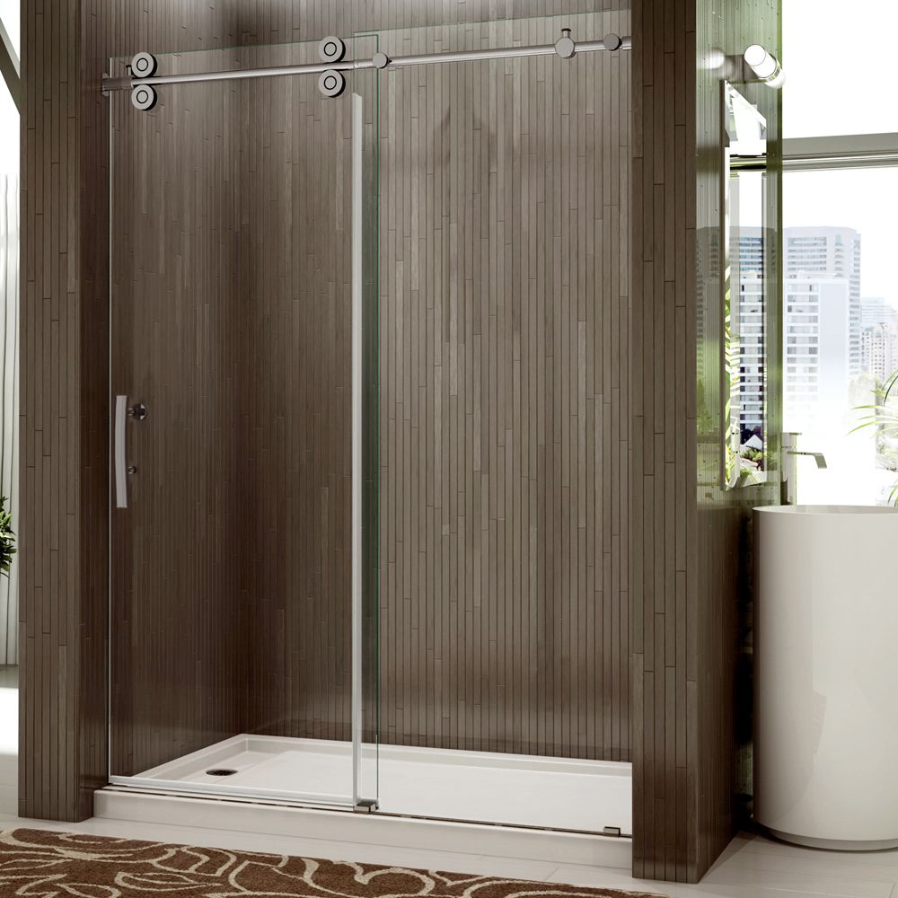 Shower Door - Rolling Door and a Single Fixed Panel