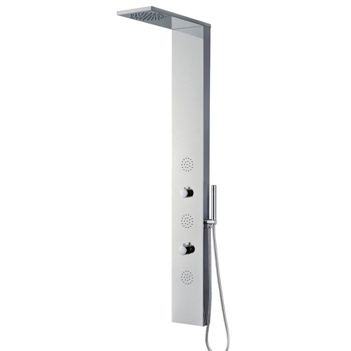 Panneau de douche en acier inoxydable, Jets de massage 3 pièce
