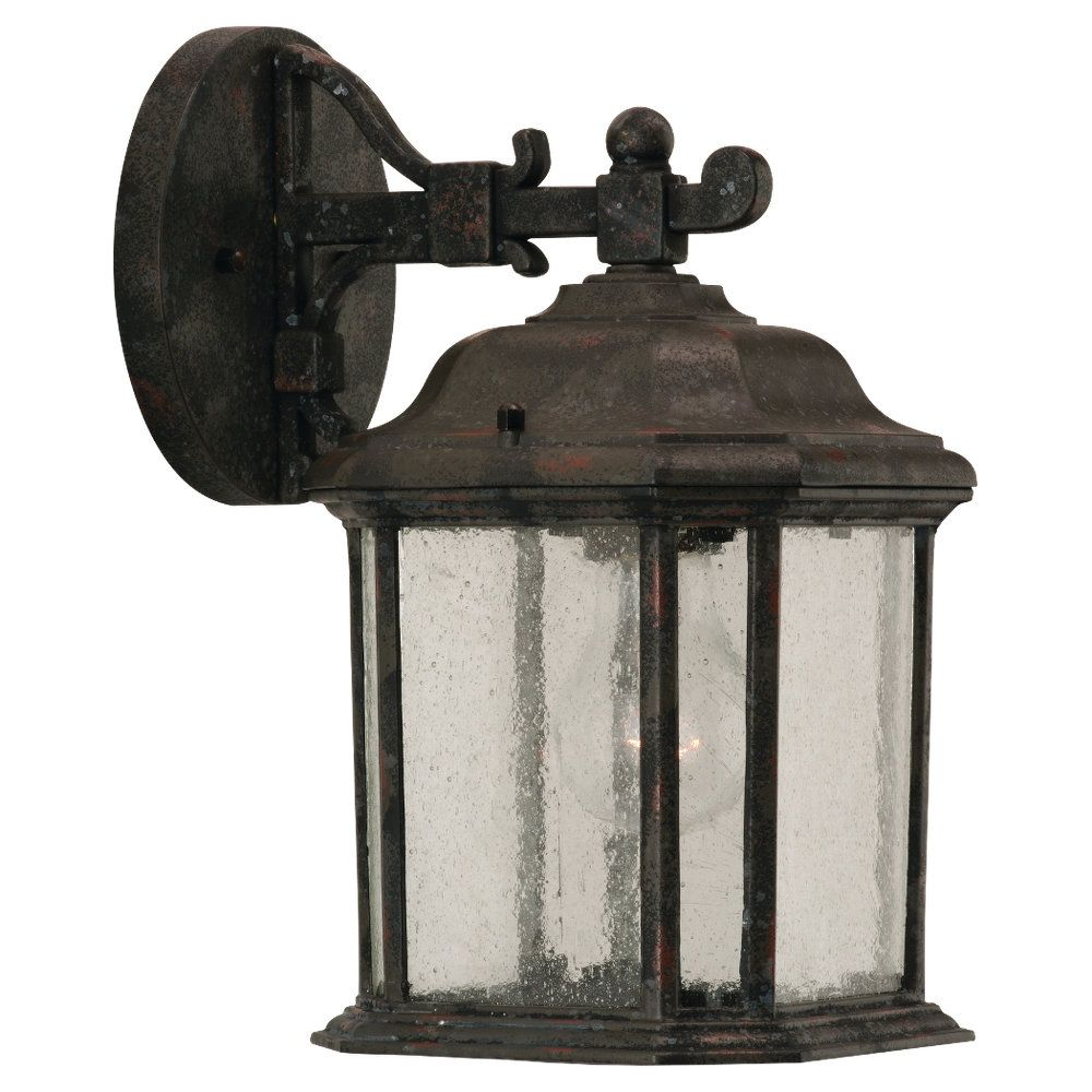 1 Light Oxford Bronze Incandescent Outdoor Wall Lantern
