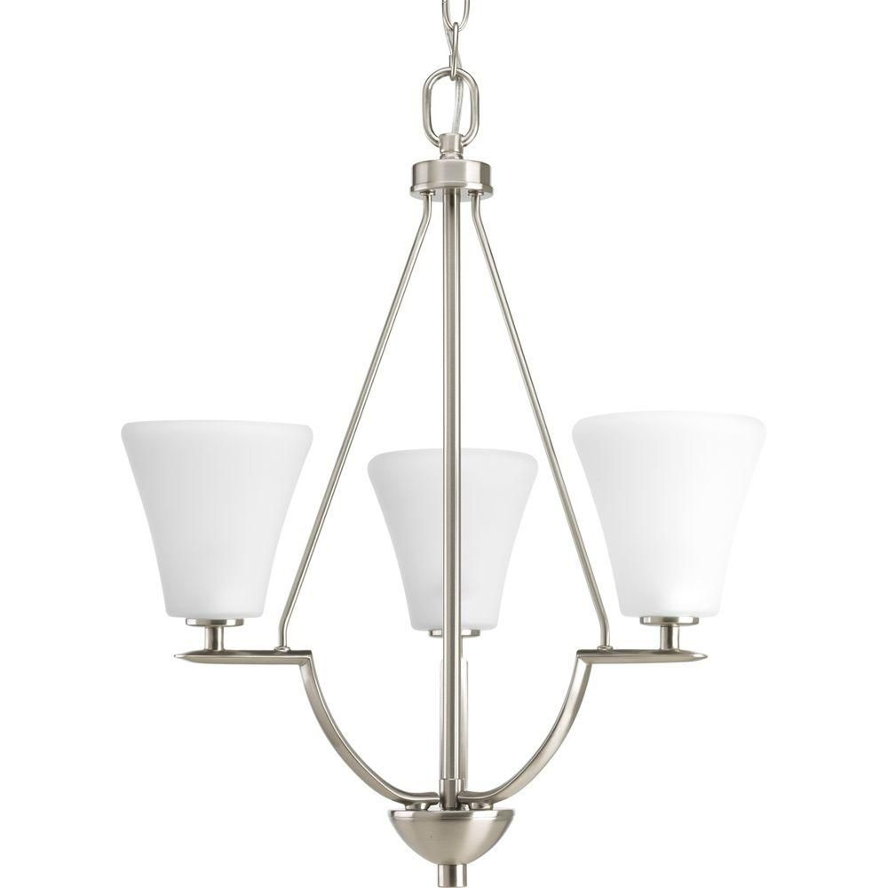 Bravo Collection Brushed Nickel 3-light Foyer Pendant