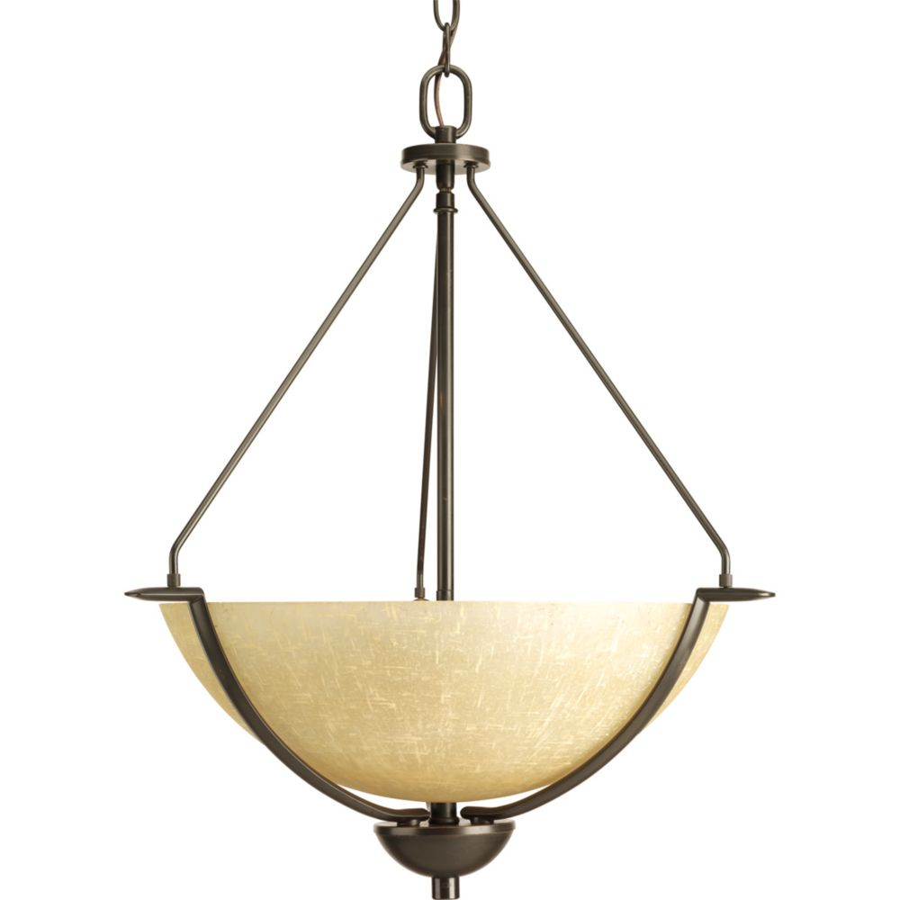Progress Lighting Inspire Collection 3 Light Antique: Progress Lighting Inspire Collection Brushed Nickel 3