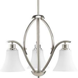 Progress Lighting Joy Collection Brushed Nickel 3-light Chandelier