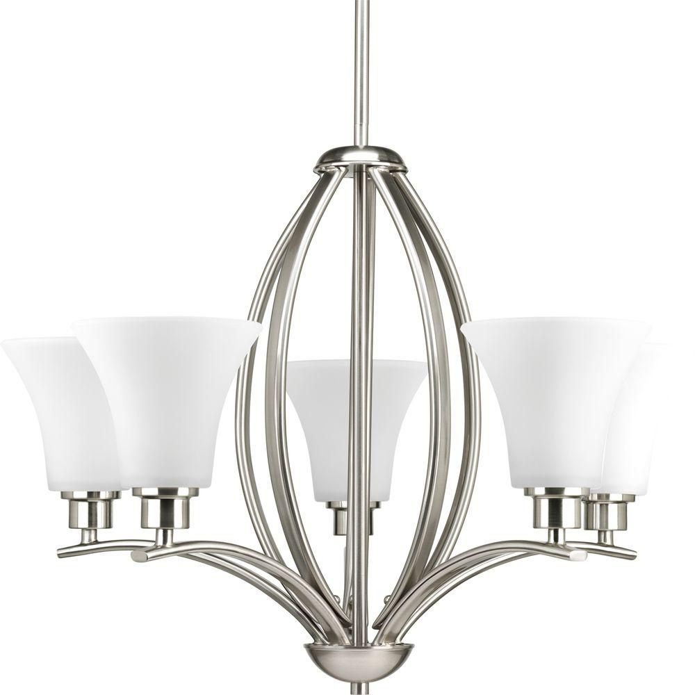 Joy Collection Brushed Nickel 5-light Chandelier