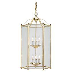 Sea Gull Lighting 6-Light Polished Brass Foyer Pendant