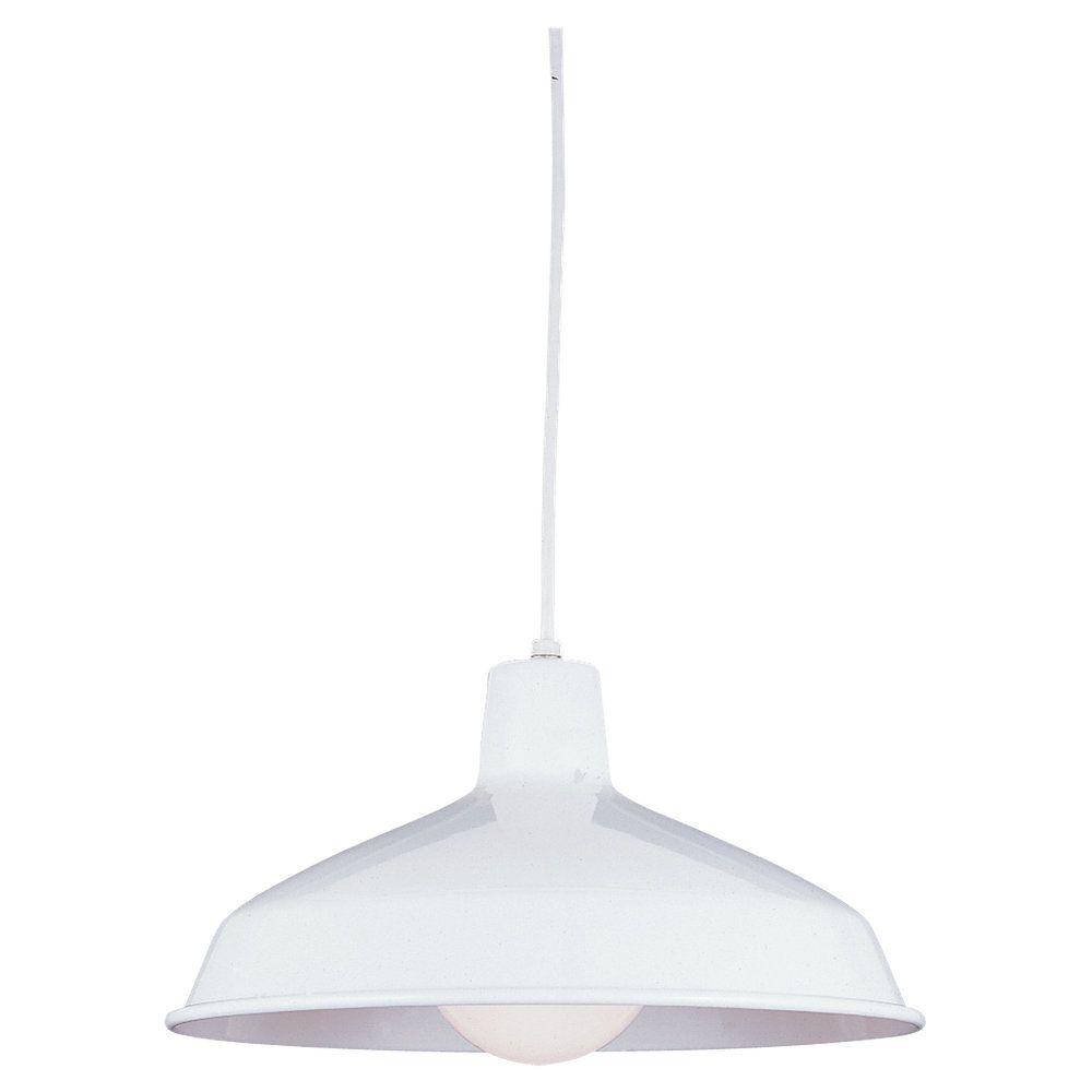 1-Light White Pendant