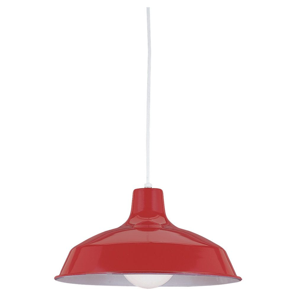 1-Light Red Pendant