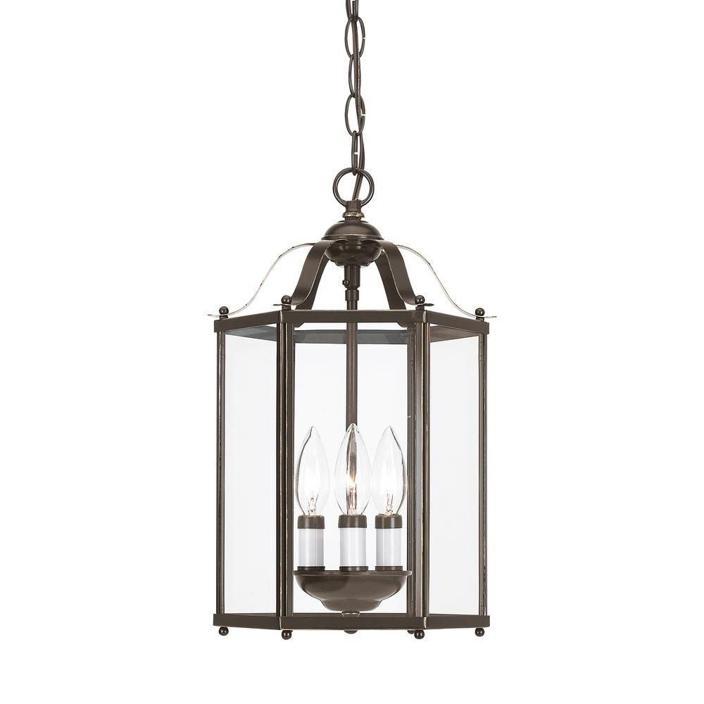 Lighting For Hallway: Sea Gull Lighting 3-Light Heirloom Bronze Pendant Light