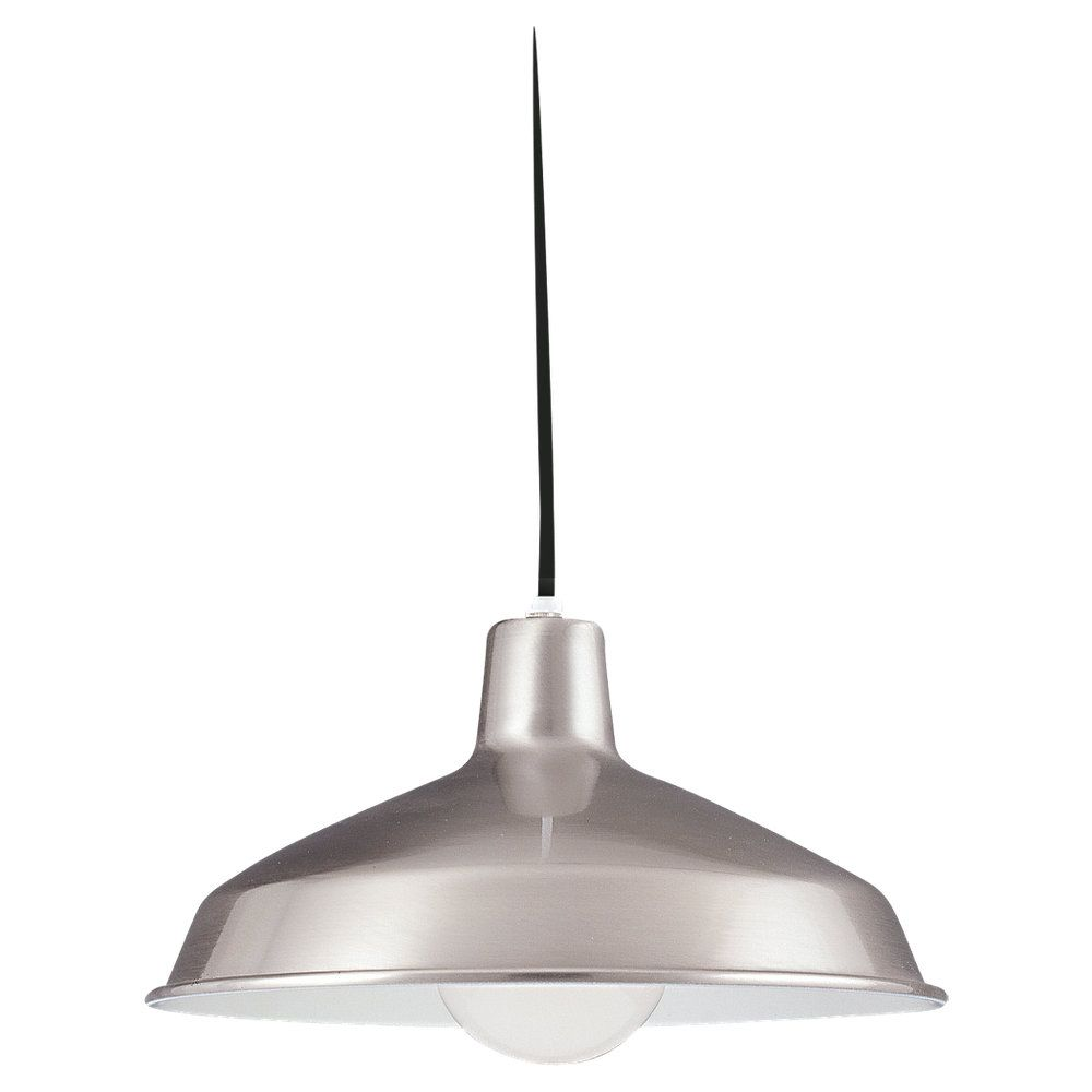 1 Light Brushed Stainless Incandescent Pendant
