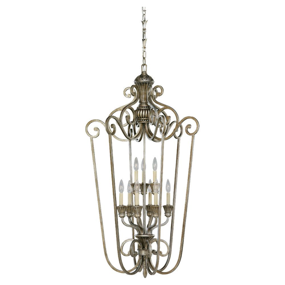 9-Light Palladium Foyer Pendant