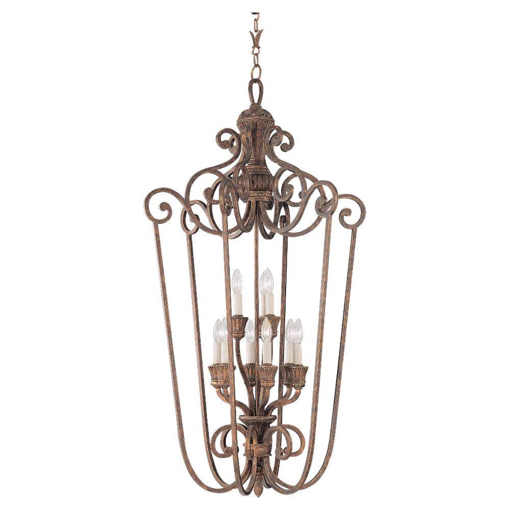 9 Light Regal Bronze Incandescent Foyer Pendant