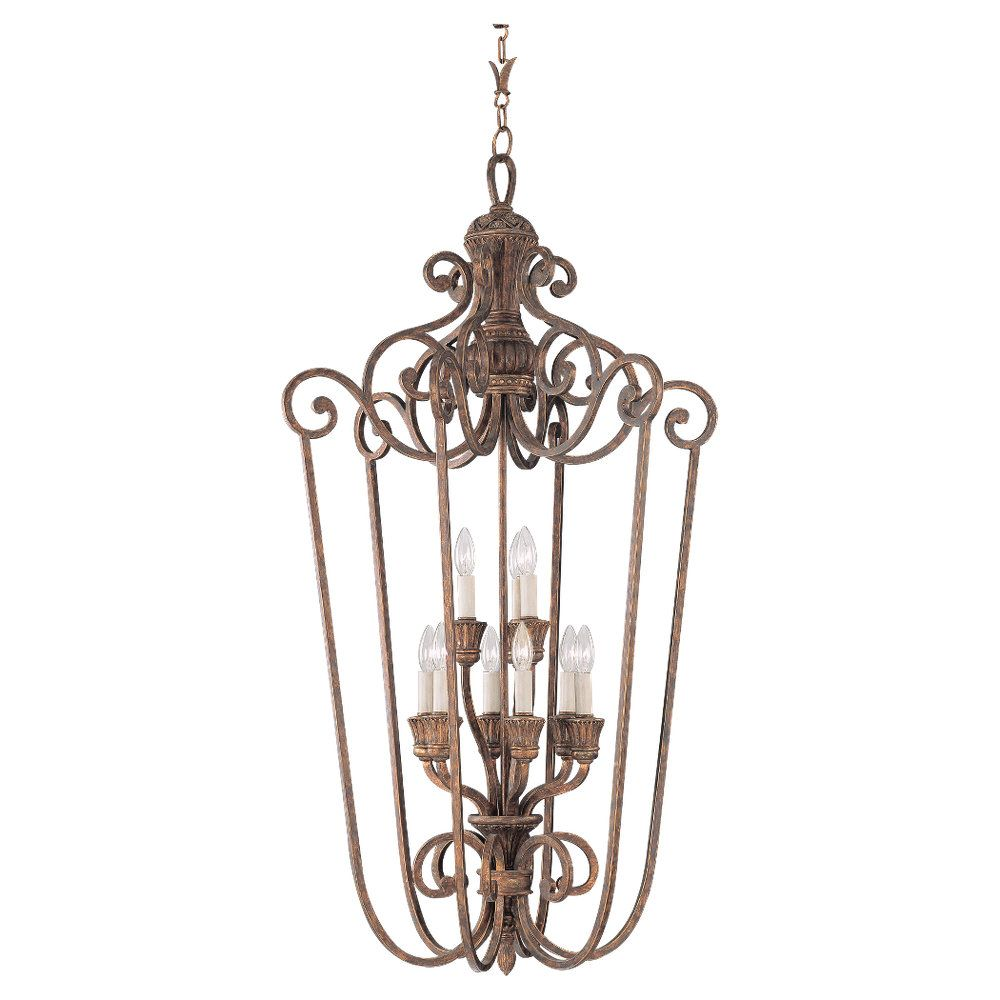 9-Light Regal Bronze Foyer Pendant