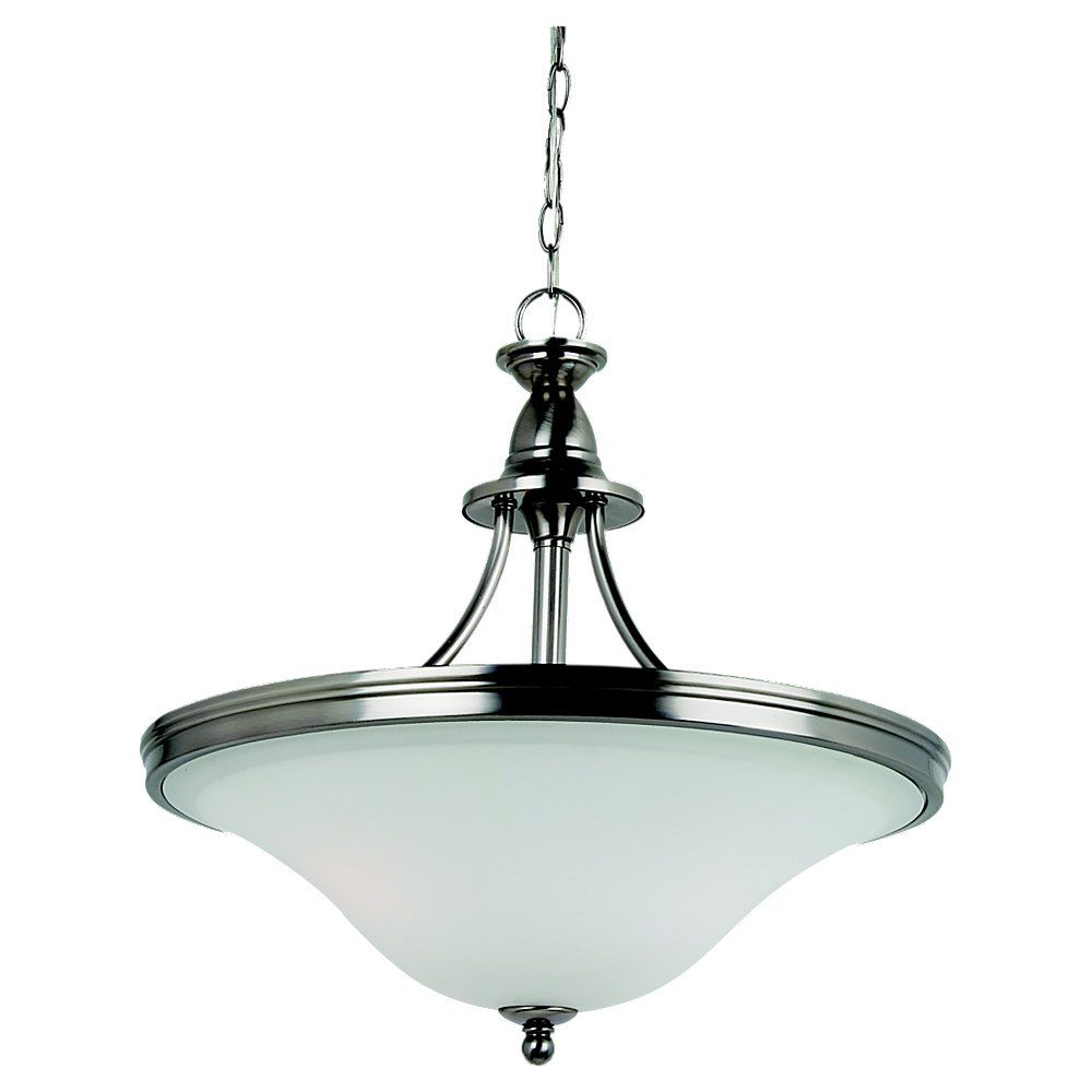 3-Light Antique Brushed Nickel Pendant
