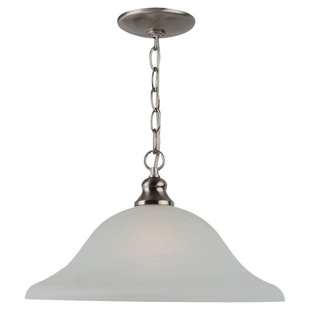 Lustre Seagull à une ampoule avec abat-jour de spécialité, finition de spécialité