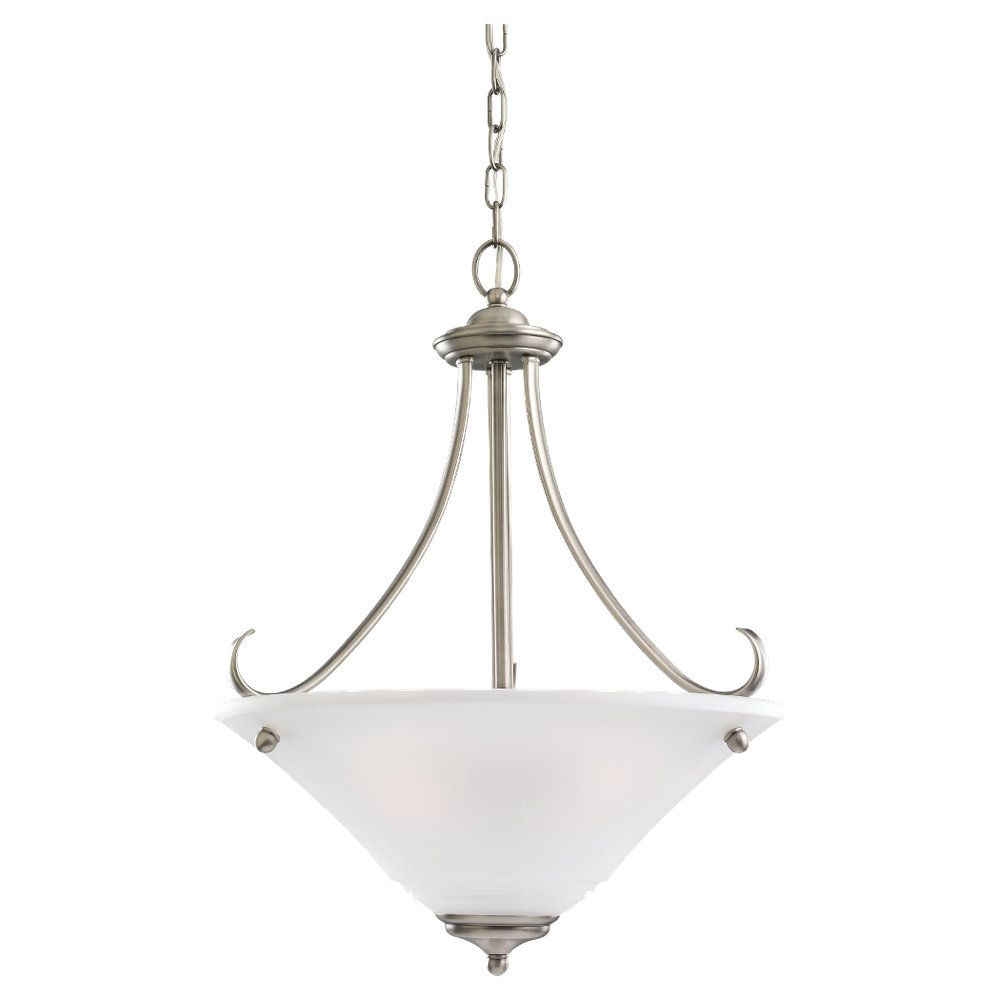 3-Light Antique Brushed Nickel Pendant