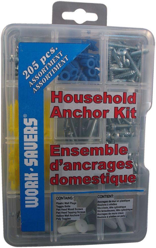 Household Anchor Kit - 205Pcs