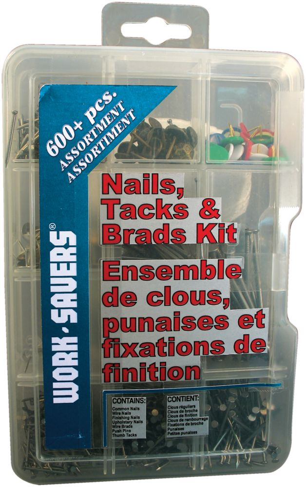 Nails, Tacks & Brads - 300+ Pcs
