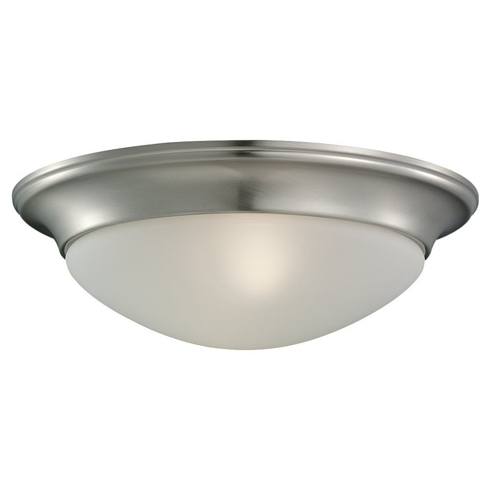 1 Light Brushed Nickel Fluorescent Flush Mount