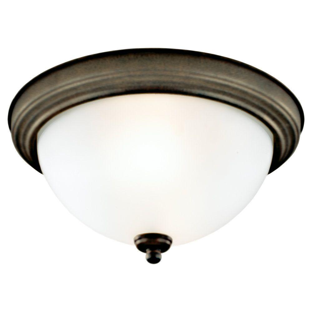 3 lumières Russet Bronze à incandescence de montage encastré